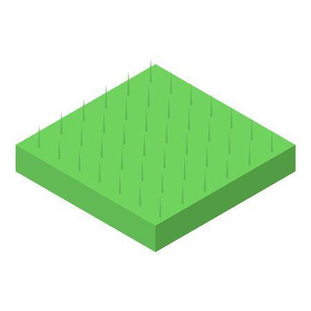 Grass square icon, isometric style Illusztráció