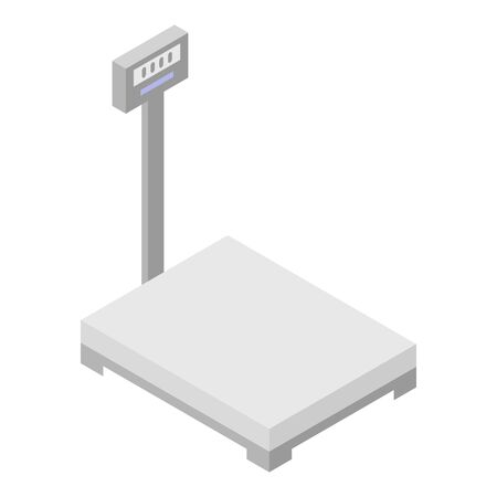 Digital scales icon, isometric style