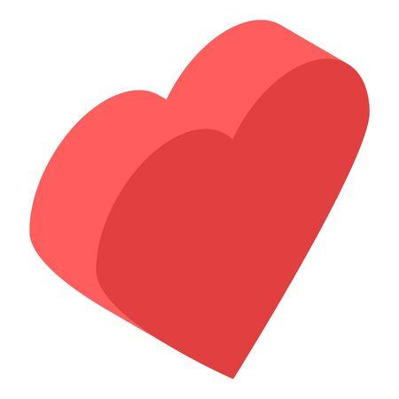 Love heart icon, isometric style