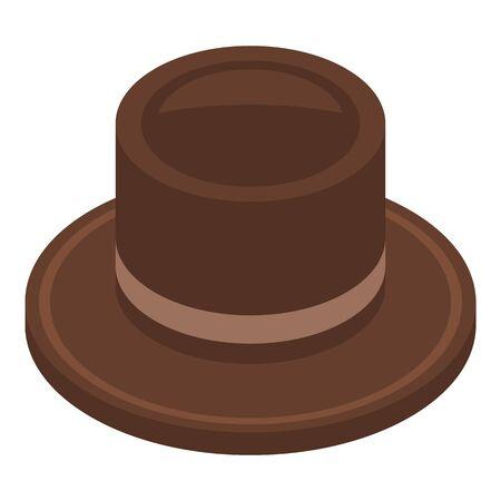 Cowboy hat icon, isometric style Иллюстрация