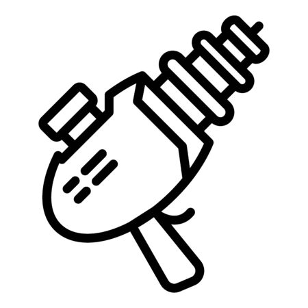 Blaster icon, outline style