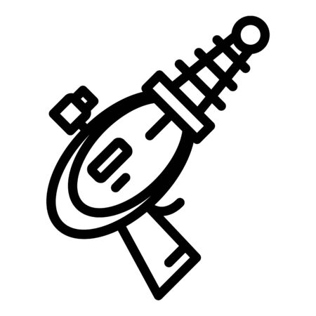 Futuristic blaster icon. Outline futuristic blaster vector icon for web design isolated on white background