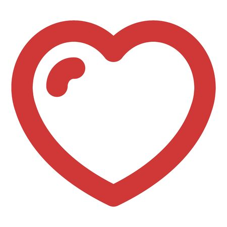 Love heart icon, outline style