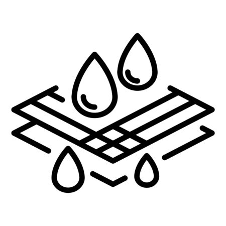 Waterproof fabric icon, outline style