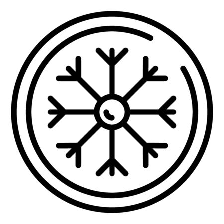Winter fabric icon, outline style Banco de Imagens - 129376914