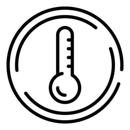 Low temperature fabric icon, outline style