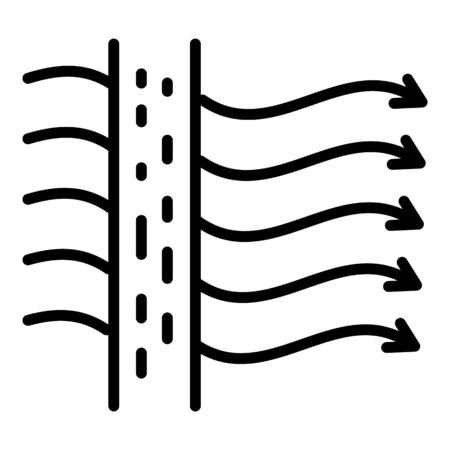 Air flow fabric icon, outline style