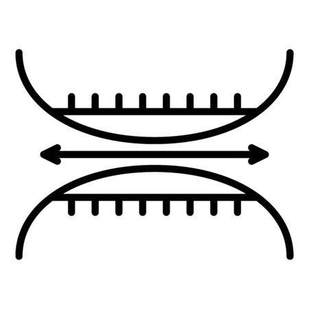 Elastic textile icon, outline style
