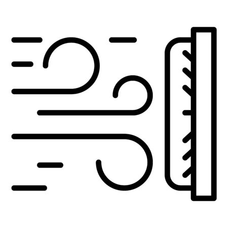 Air fabric protection icon, outline style