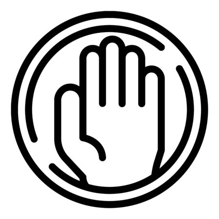 Stop family violence icon, outline style
