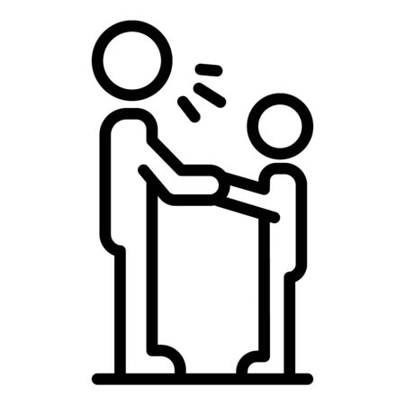 Stop kid violence icon, outline style