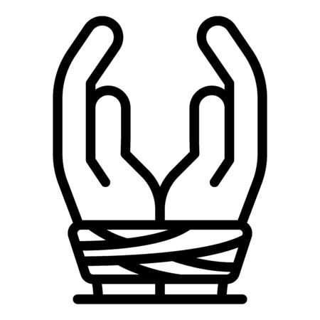 Stop harassment icon, outline style