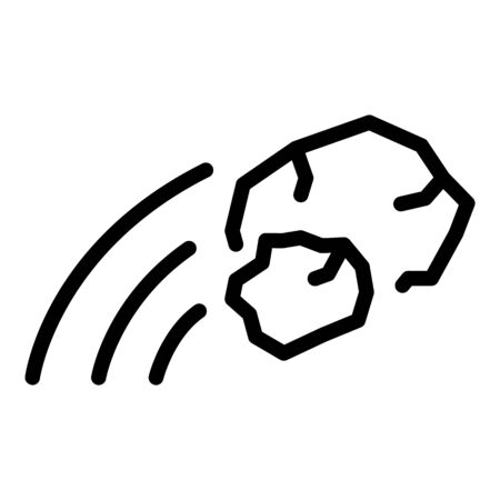 Stop stone violence icon, outline style Ilustração