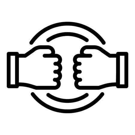 Stop fight violence icon, outline style