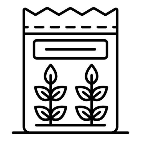 Flour icon, outline style Иллюстрация