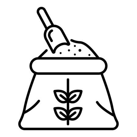Flour sack icon, outline style