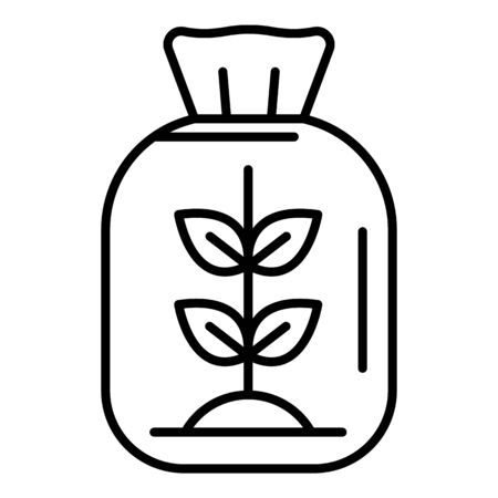 Flour package icon, outline style