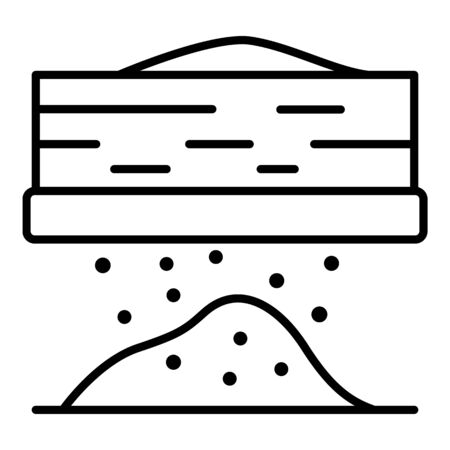 Kitchen flour icon, outline style