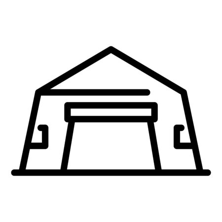 Tent hangar icon, outline style