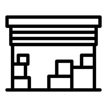 Deposit garage icon, outline style Stock Vector - 129926846