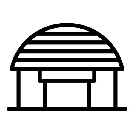 Office warehouse icon, outline style Illustration