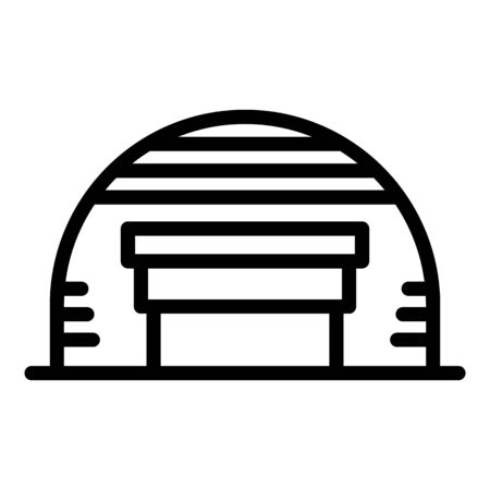 Metal hangar icon, outline style