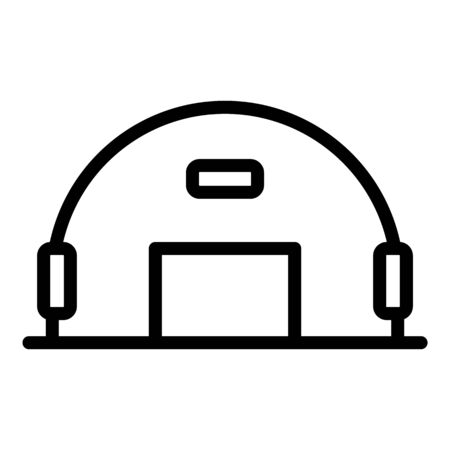 Army hangar icon, outline style