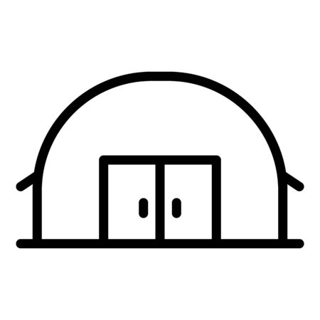 Industrial hangar icon, outline style