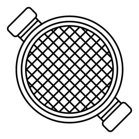 Top view sieve icon, outline style