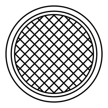 Küchensiebsymbol, Umrissstil Vektorgrafik