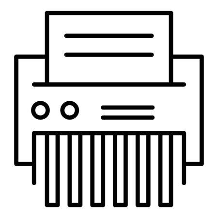 Office shredder icon, outline style