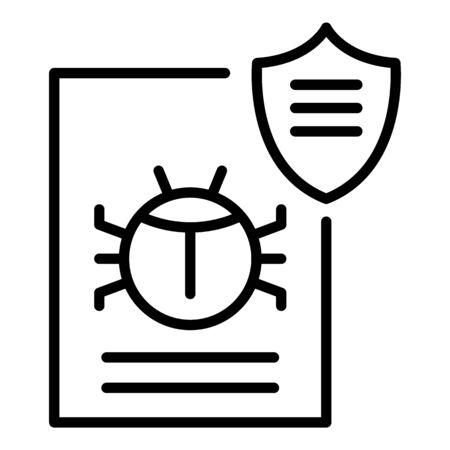 Hacker bug icon, outline style Stock Illustratie