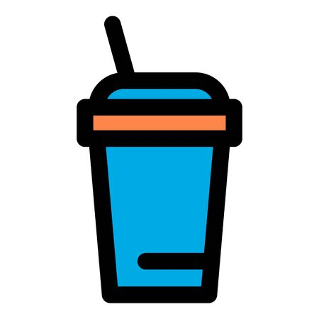 Coffee plastic cup icon, outline style