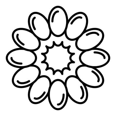 Top view raspberry icon, outline style Illusztráció