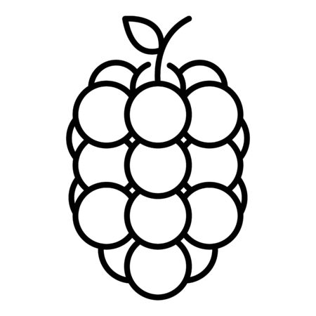 Sweet raspberry icon, outline style