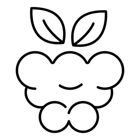 Delicious raspberry icon, outline style