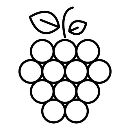 Fruit raspberry icon, outline style
