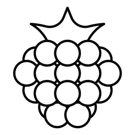 Natural raspberry icon, outline style