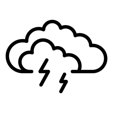 Storm cloud icon, outline style Фото со стока - 129928515