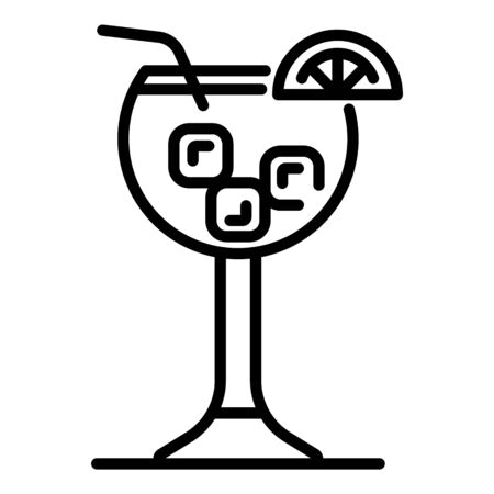 Cocktail icon, outline style