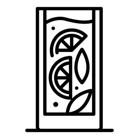 Lemon cocktail icon, outline style Reklamní fotografie - 129930778