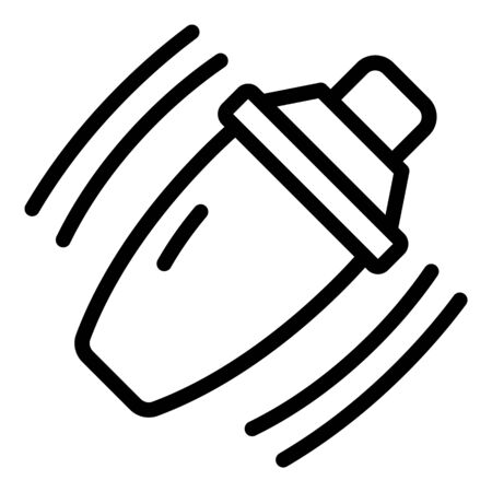 Bar shaker icon, outline style  イラスト・ベクター素材