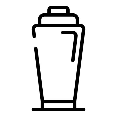 Party bar shaker icon, outline style