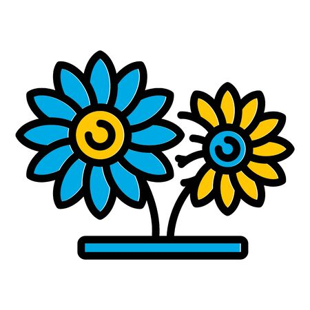 Flowers pot icon, outline style