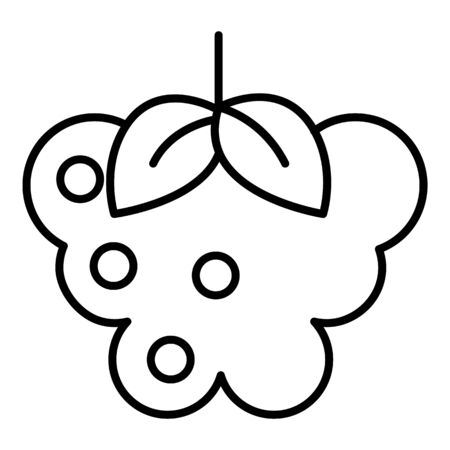 Raspberry food icon, outline style