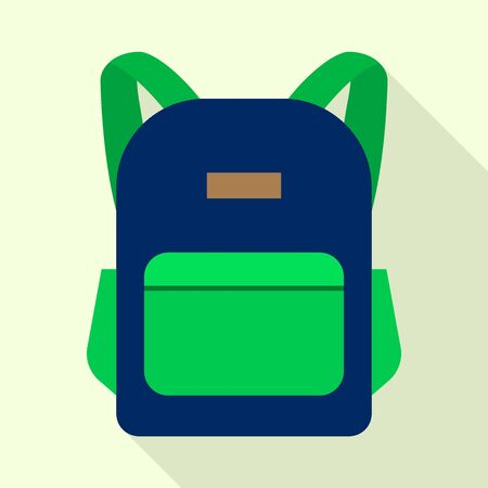 Sport backpack icon, flat style
