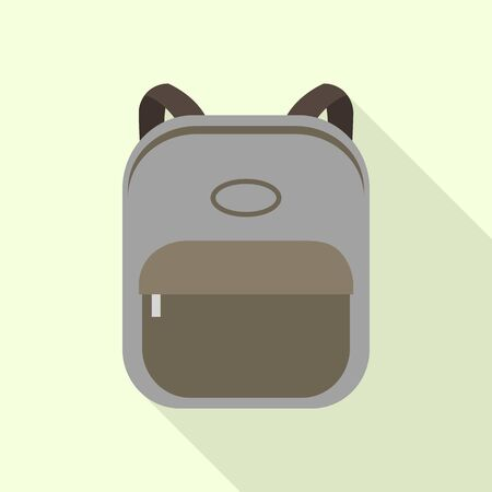 Canvas backpack icon. Flat illustration of canvas backpack vector icon for web design