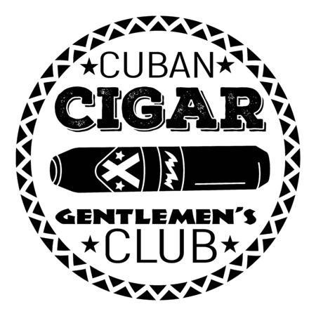 Cuban cigar club  simple style Иллюстрация