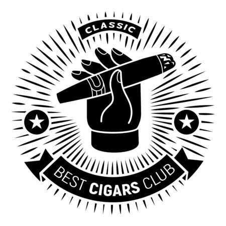 Best cigar club simple style Ilustrace