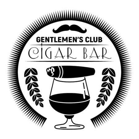 Cigar bar, simple style Çizim